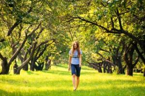 Young woman at park