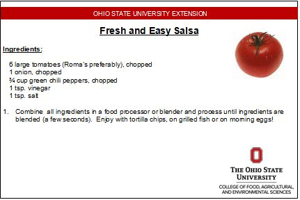Food preservation live healthy live well salsa recipe forumfinder Choice Image