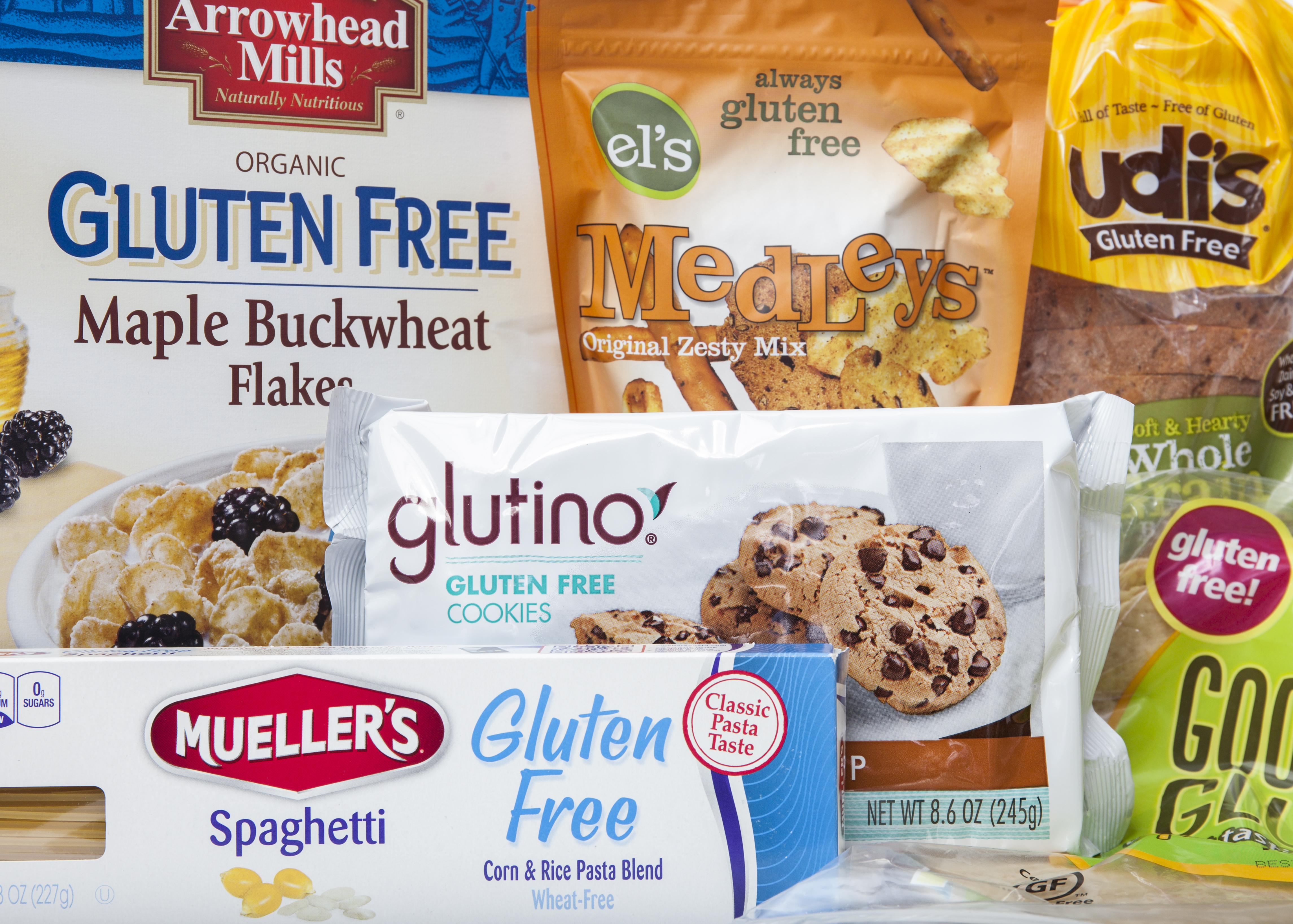 Gluten free food products.