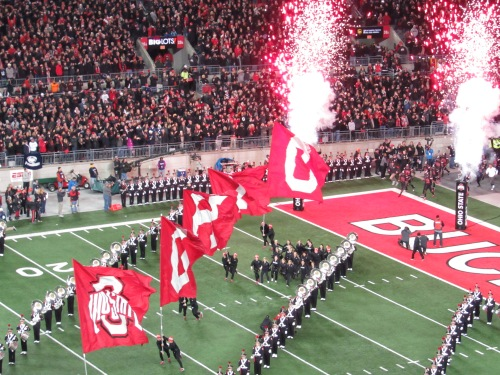 Photo from Ohio State University football game