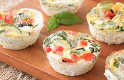 Breakfast vegetable muffins