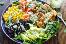 Salad with corn, avocado, black beans - Southwest Style Salad