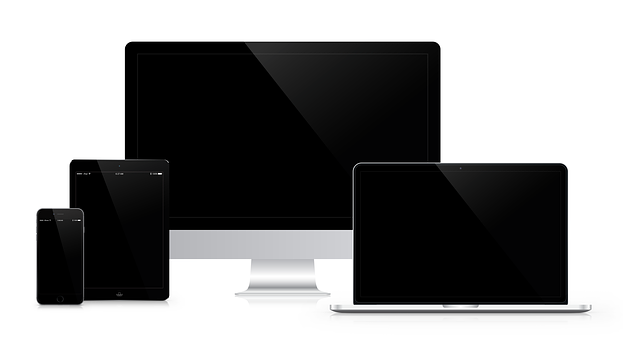 Picture of phone screen, tablet screen, computer screen and television screen