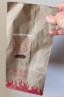 fast food meal bag
