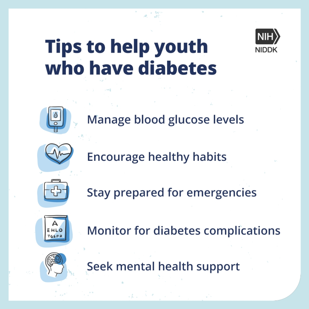 Tips to help youth who have diabetes