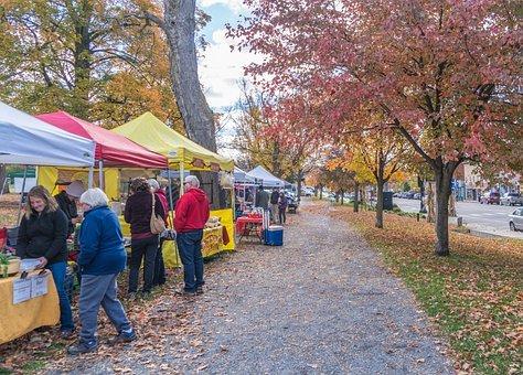 Tents at a Farmers' Market